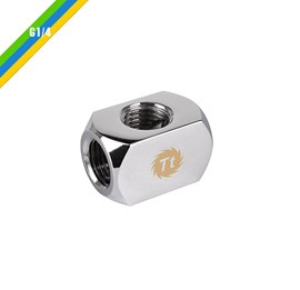 Ốc nối Pacific 4-Way G1/4 Connector Block - Chrome