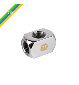 Fitting Pacific 4-Way G1/4 Connector Block - Chrome